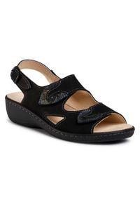 Czarne sandały Dr. Brinkmann