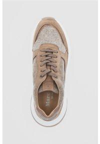 Marc O'Polo - Buty. Nosek buta: okrągły. Zapięcie: sznurówki. Kolor: beżowy. Materiał: guma. Obcas: na platformie