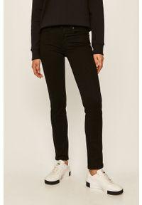 Czarne proste jeansy Levi's® gładkie