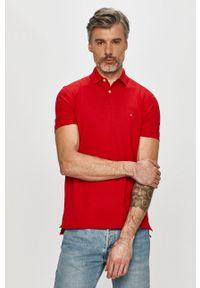 Czerwona koszulka polo TOMMY HILFIGER krótka, polo