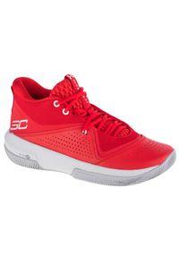 Czerwone buty do koszykówki Under Armour z cholewką