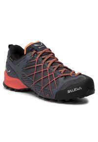Niebieskie buty trekkingowe Salewa z cholewką, Gore-Tex, trekkingowe