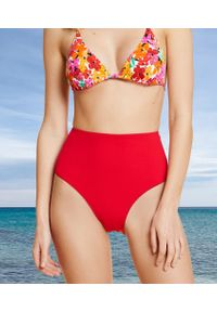 Shapewear Promesse Modelujące Majtki Z Wysokim Stanem, Dół Od Kostiumu Kąpielowego - 42 - Czerwony - Etam. Stan: podwyższony. Kolor: czerwony. Materiał: poliamid, dzianina, materiał, tkanina