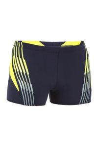 Speedo - Bokserki pływackie WILDE. Kolor: wielokolorowy, żółty, niebieski. Materiał: materiał, poliester