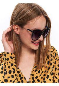 Czarne okulary przeciwsłoneczne TOP SECRET w kolorowe wzory