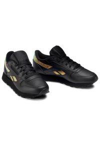 Czarne buty sportowe Reebok na płaskiej podeszwie, z cholewką