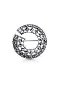 Srebrna broszka W.KRUK srebrna, z aplikacjami