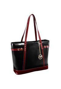 Torba na laptopa MCKLEIN Serafina 15 cali Czarno-wiśniowy. Kolor: czarny, wielokolorowy, czerwony. Materiał: skóra. Wzór: paisley. Styl: klasyczny #5