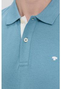 Tom Tailor - Polo bawełniane. Okazja: na co dzień. Typ kołnierza: polo. Kolor: niebieski. Materiał: bawełna. Długość: krótkie. Wzór: gładki. Styl: casual