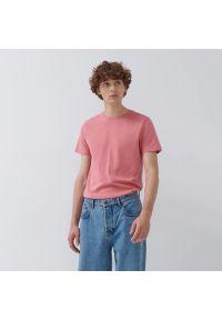 House - T-shirt z bawełny organicznej - Różowy. Kolor: różowy. Materiał: bawełna