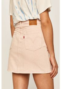 Różowa spódnica Levi's® w kolorowe wzory, na spotkanie biznesowe