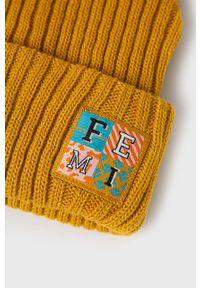 Żółta czapka Femi Stories z aplikacjami