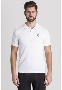 Koszulka polo EA7 Emporio Armani polo, w jednolite wzory, sportowa