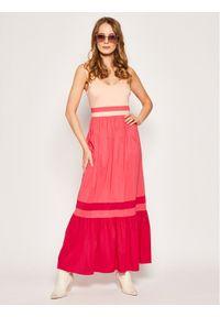Różowa sukienka letnia My Twin
