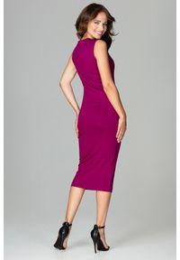Sukienka w ażurowe wzory, dopasowana