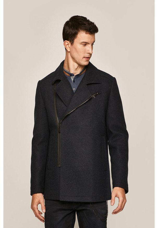 Niebieski płaszcz medicine na co dzień, bez kaptura, casualowy