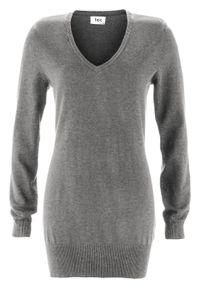 Szary sweter bonprix długi, melanż
