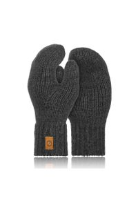 BRODRENE - Rękawiczki damskie zimowe r02 Brodrene R02 c.szare. Kolor: szary. Materiał: materiał. Sezon: zima