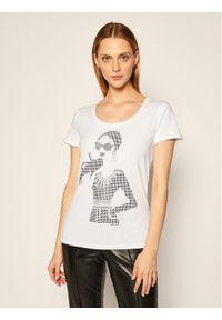 Biały t-shirt Liu Jo