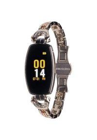 Srebrny zegarek GARETT smartwatch, elegancki
