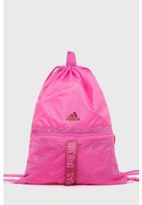 adidas Performance - Plecak. Kolor: różowy. Wzór: nadruk