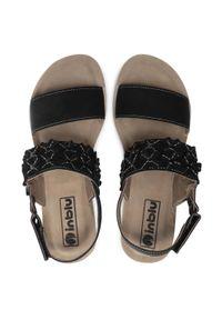 Czarne sandały Inblu