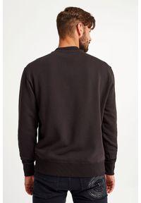 Versace Jeans Couture - BLUZA VERSACE JEANS COUTURE. Materiał: bawełna, tkanina, elastan. Długość rękawa: długi rękaw. Długość: długie. Wzór: napisy