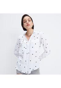 Biała koszula Mohito w grochy