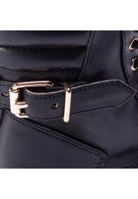 Czarne buty zimowe Sergio Bardi Young z aplikacjami