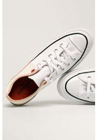 Białe tenisówki Converse z cholewką, z okrągłym noskiem