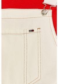 Białe szorty Tommy Jeans gładkie, na co dzień