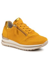 Żółte buty sportowe Gabor