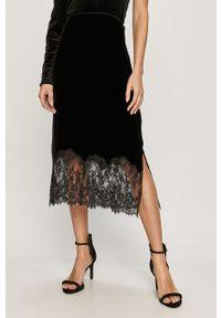 Czarna spódnica AllSaints z aplikacjami, casualowa, na co dzień