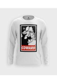 MegaKoszulki - Koszulka męska z dł. rękawem Tchórzliwy Pies. Materiał: bawełna