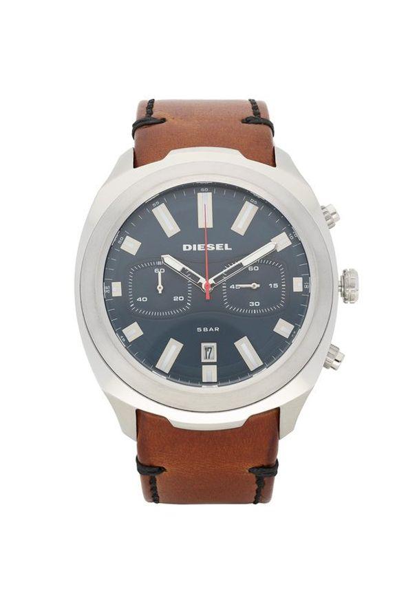 Brązowy zegarek Diesel