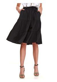 Czarna spódnica TOP SECRET w kolorowe wzory, na jesień