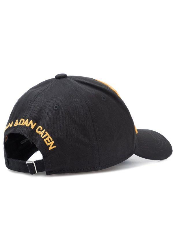 Czarna czapka z daszkiem DSQUARED2