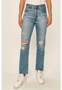 Niebieskie jeansy Levi's® biznesowe, z podwyższonym stanem, na spotkanie biznesowe