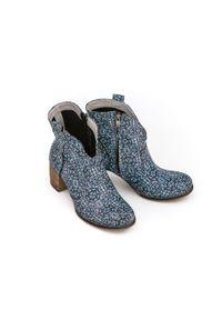 Botki Zapato z okrągłym noskiem, na imprezę, eleganckie, na zamek