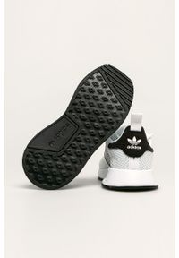 Białe buty sportowe adidas Originals z nadrukiem, na sznurówki, z cholewką