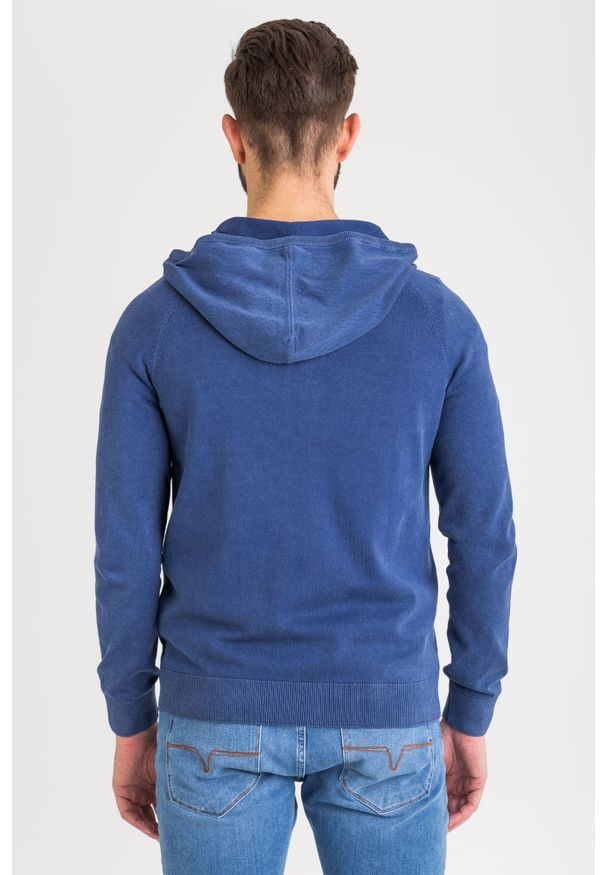 Sweter JOOP! Jeans w kolorowe wzory, z kapturem