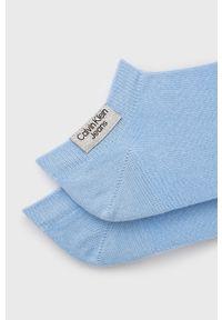 Calvin Klein Jeans - Skarpetki (2-pack). Kolor: niebieski. Materiał: bawełna