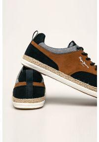 Sneakersy Pepe Jeans z cholewką, z okrągłym noskiem