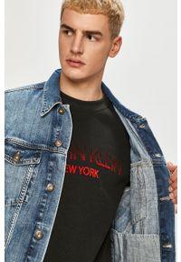 Niebieska kurtka Cross Jeans gładkie, casualowa