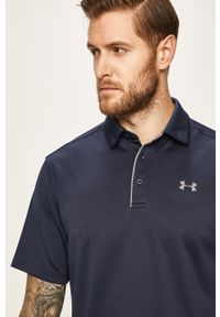 Niebieska koszulka polo Under Armour krótka, na co dzień, gładkie, polo #5