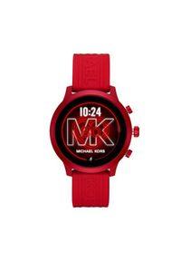 Czerwony zegarek Michael Kors smartwatch