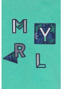 Turkusowa bluza rozpinana Mayoral na co dzień, casualowa, z aplikacjami, z kapturem