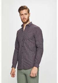 Brązowa koszula Jack & Jones długa, elegancka