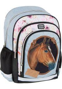 Starpak Plecak szkolny Horses niebieski (446618). Kolor: niebieski