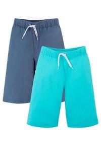 Bermudy chłopięce (2 pary) bonprix indygo-morski. Kolor: niebieski